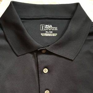 PGA Tour Men's 3 button golf polo shirt